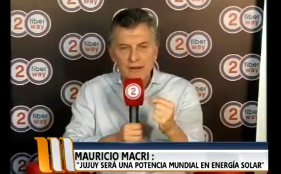 Reviví la entrevista con el presidente Macri en Jujuy