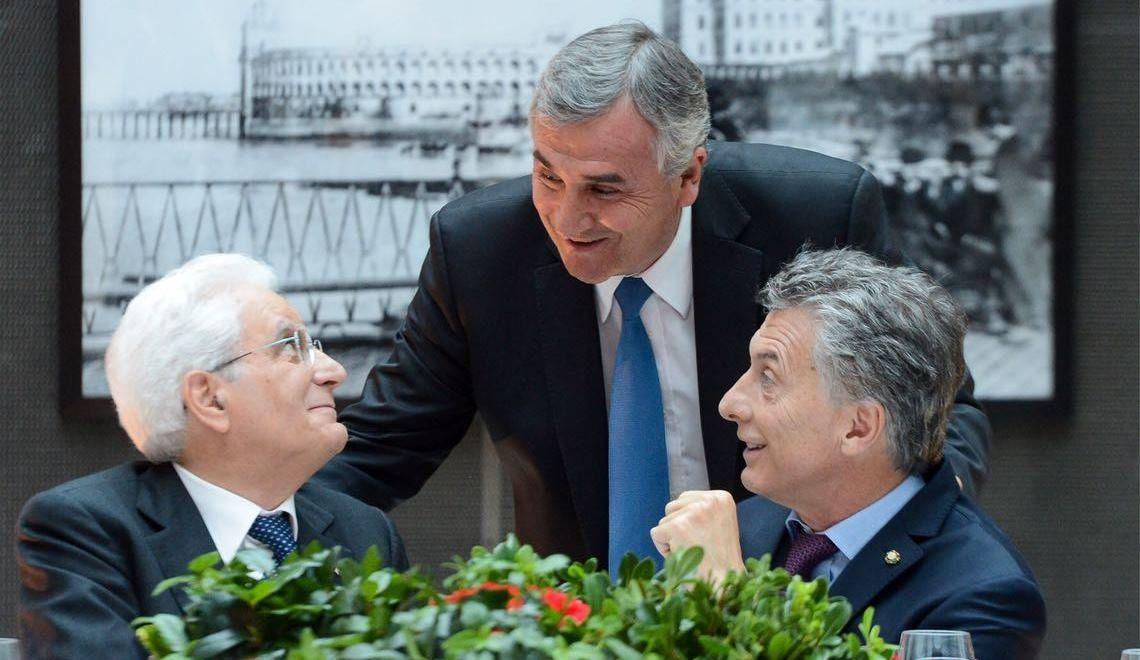 Morales almorzó con Macri y el presidente de Italia