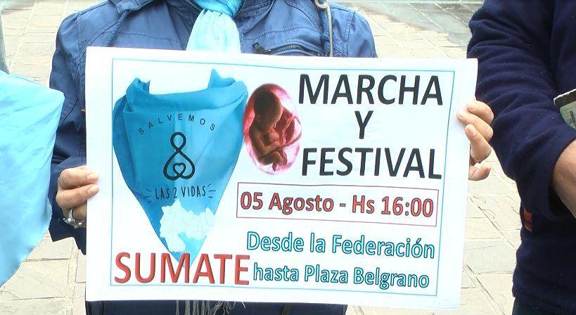 """Convocan a la marcha por las """"dos vidas"""" en Jujuy"""