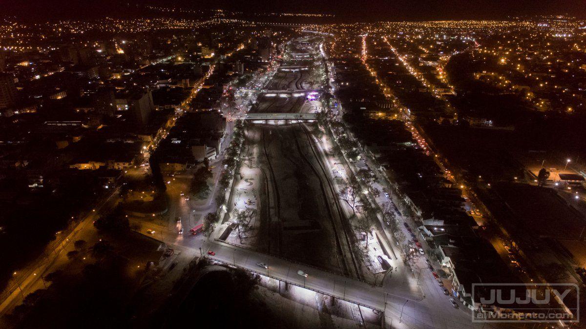 De noche sin Parque Lineal