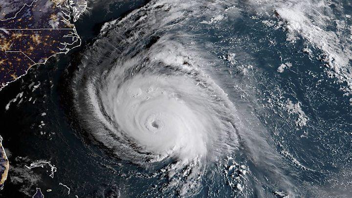 Mirá el recorrido del huracán Florence en vivo