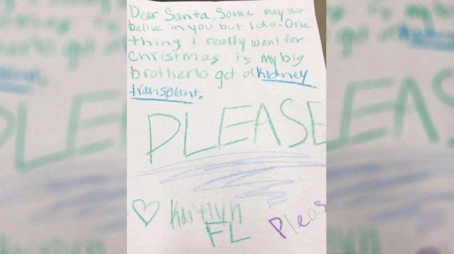 El pedido de una nena a Papá Noel: un riñón para su hermano