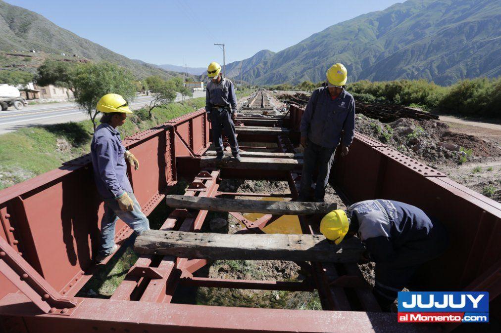 """Tren Jujuy-La Quiaca: """"Estamos terminando los primeros 10km"""""""