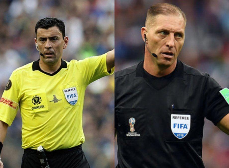 Pitana a cargo del partido inaugural; Tobar, Argentina vs Colombia