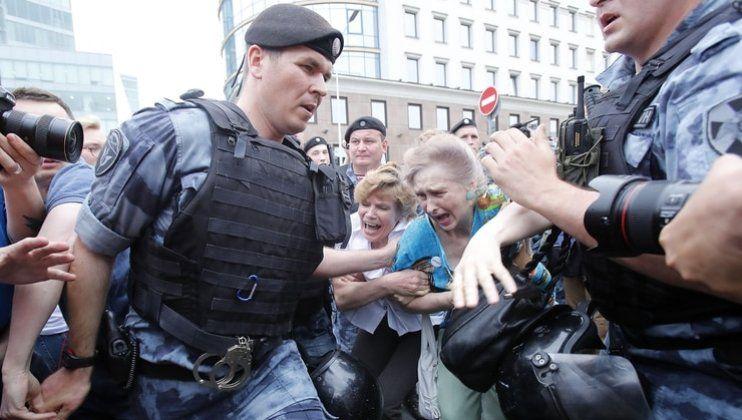 Un centenar de detenidos en Moscú en medio de una manifestación