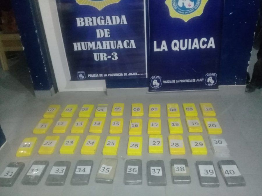 Secuestro de más de 40kg de cocaína en La Quiaca