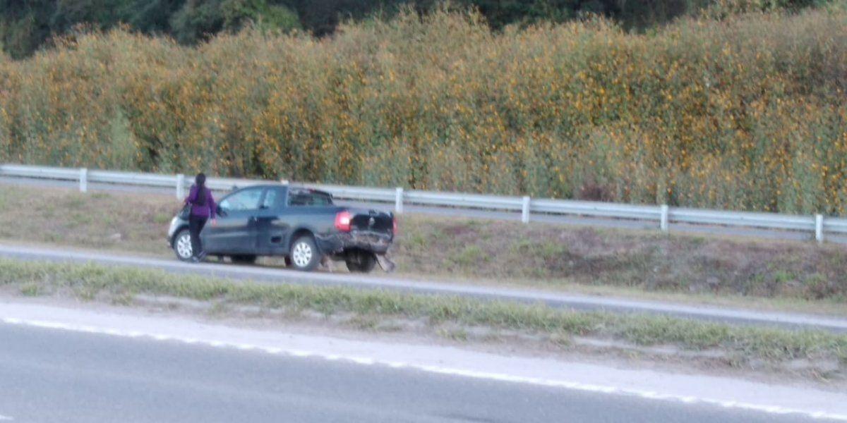 Choque de vehículos en Ruta N°66