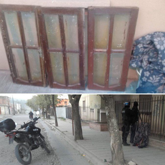 Fue arrestado mientras trasladaba ventanas en forma sospechosa