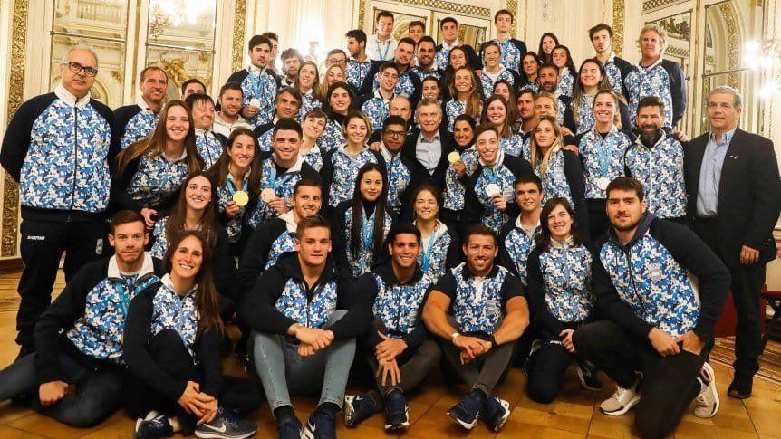 Reconocimiento para la delegación argentina en la Casa Rosada