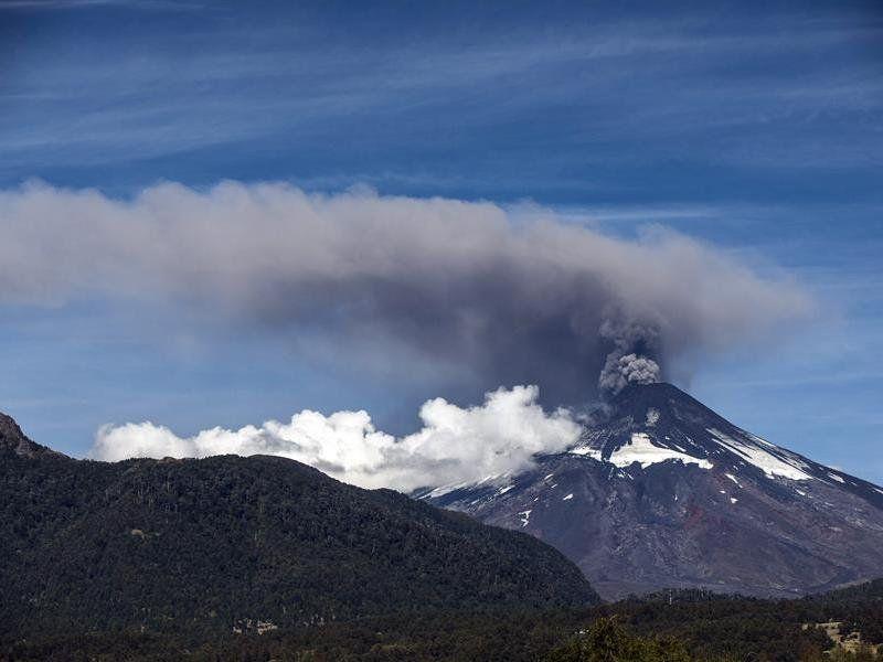Alerta naranja por el volcán Villarrica