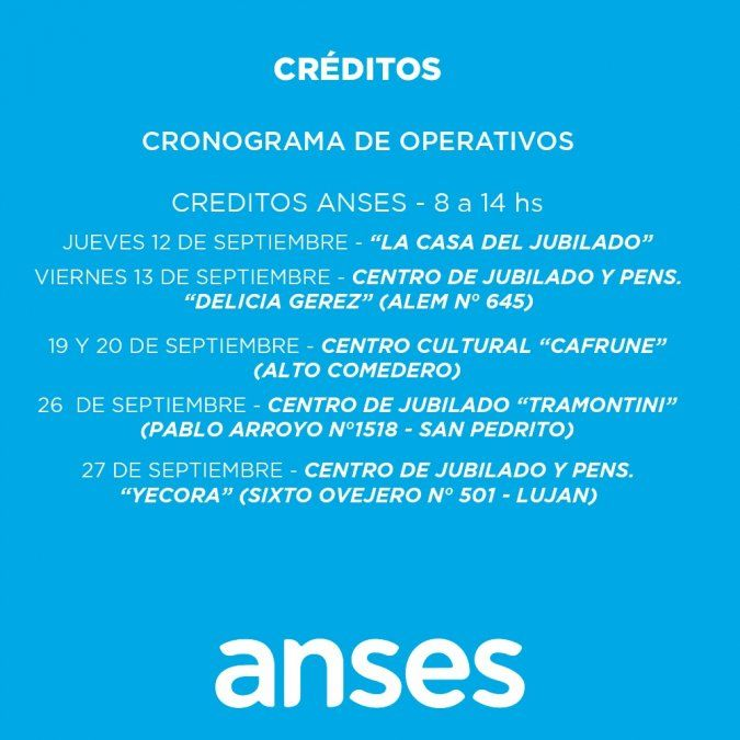 Comienza el operativo de créditos para jubilados en Jujuy