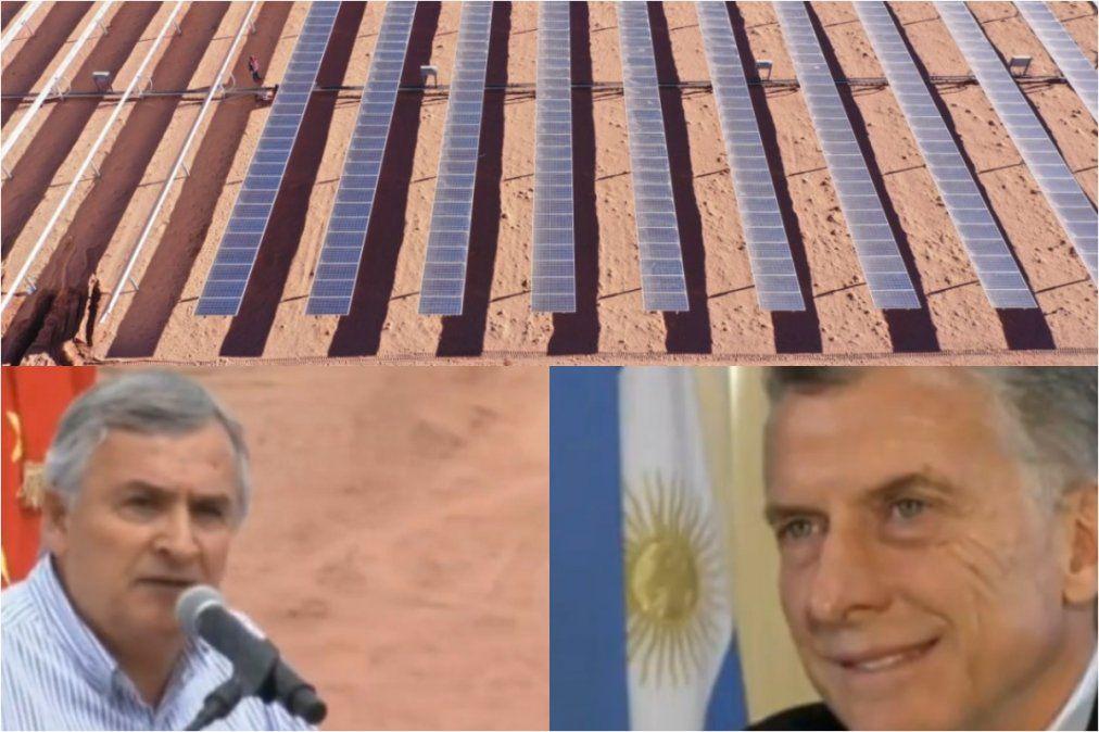 Morales prometió otro parque solar
