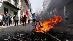 altText(Lenín Moreno denunció que hay guerrileros de las FARC infiltrados en las protestas)}