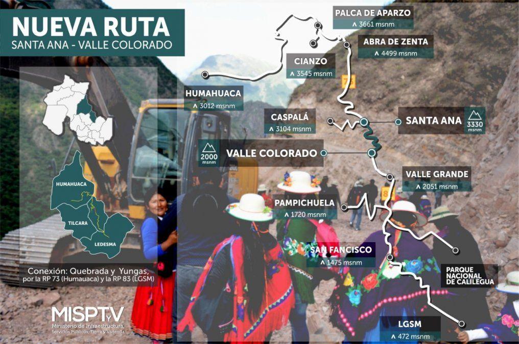 Conexión Yungas-Quebrada, el inédito camino se inaugura el domingo