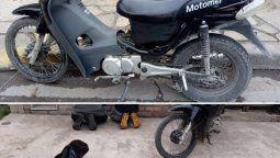 Dos detenidos intentando vender partes de una moto robada
