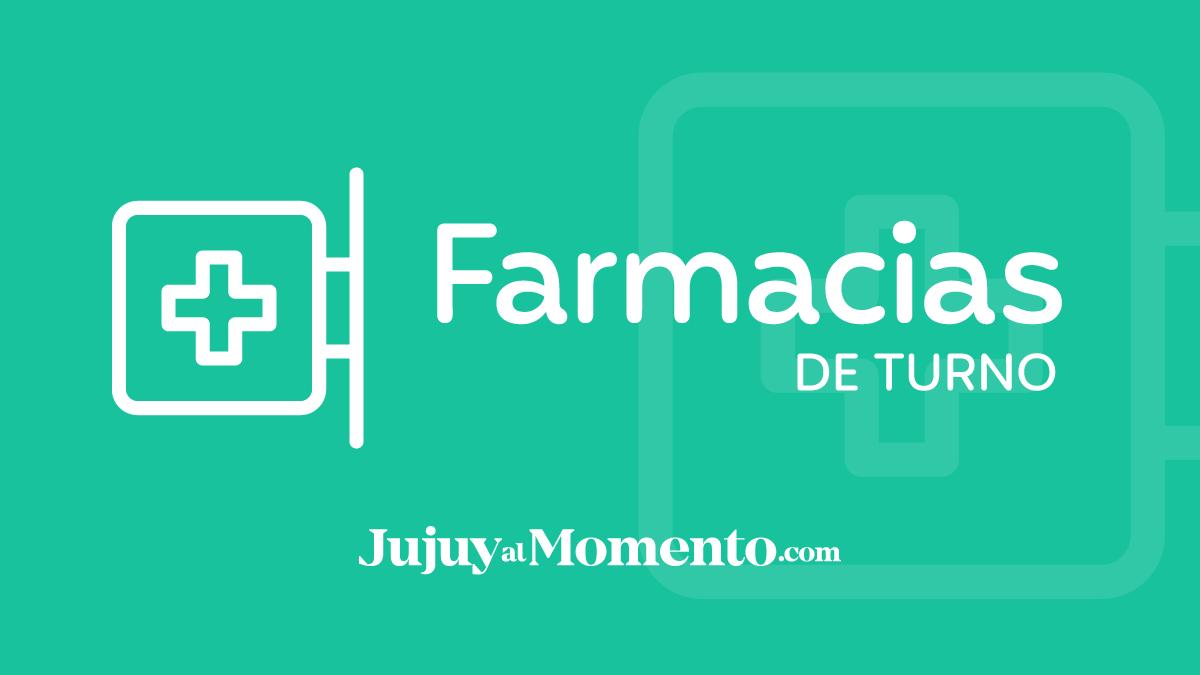 ¿Qué Farmacias estarán de turno hoy en Jujuy?