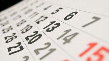 Se anunciaron los feriados