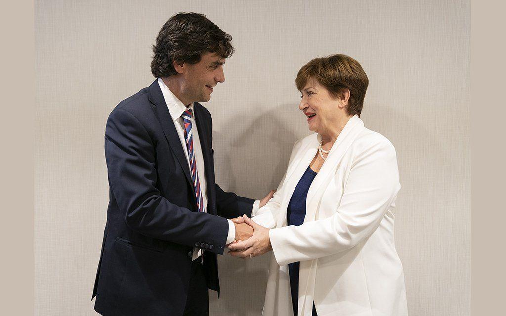 Lacunza mantuvo una reunión productiva con la directora del FMI
