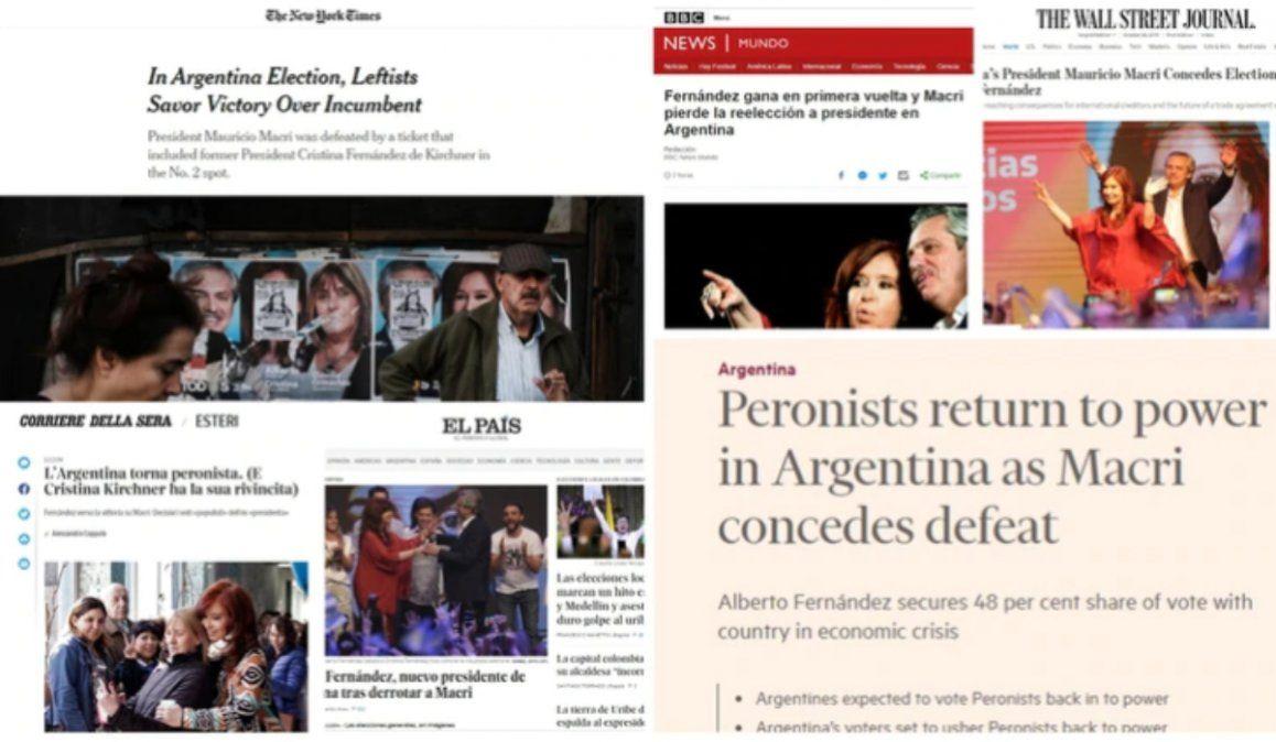 Así reflejó la prensa internacional el triunfo de Alberto Fernández