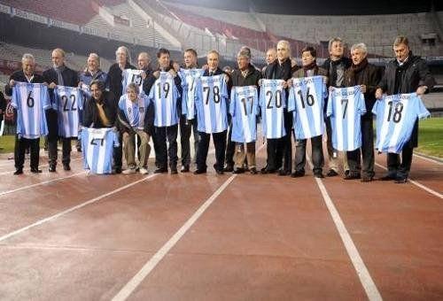 Homenaje a los jugadores del Mundial '78