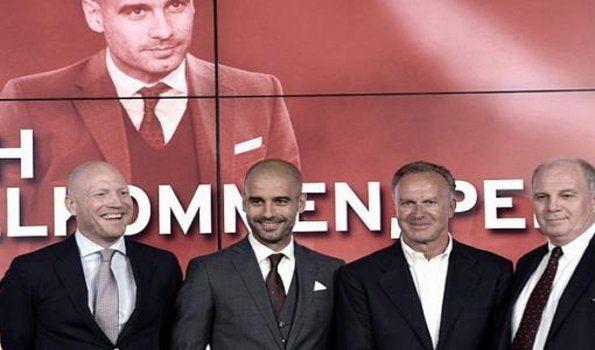 Guardiola asumió como DT del Bayern Munich