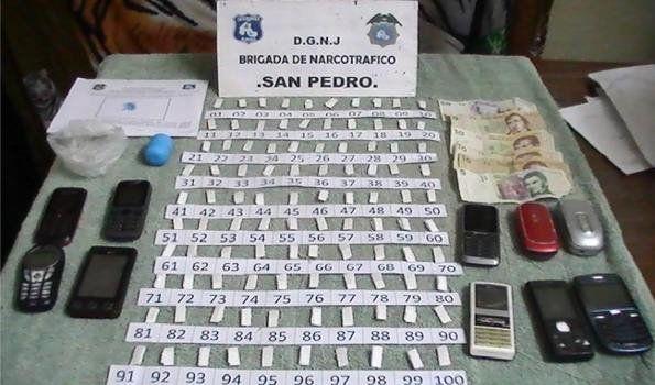 San Pedro: Secuestran pasta base y detienen a dos personas