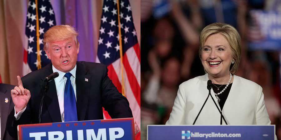 Trump y Clinton logran victorias claves en las primarias
