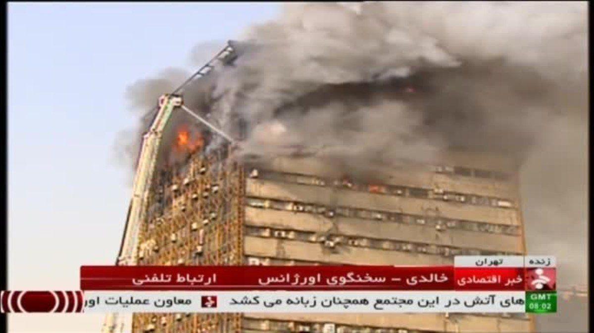 Un derrumbe ocasionó 20 muertes en Teherán
