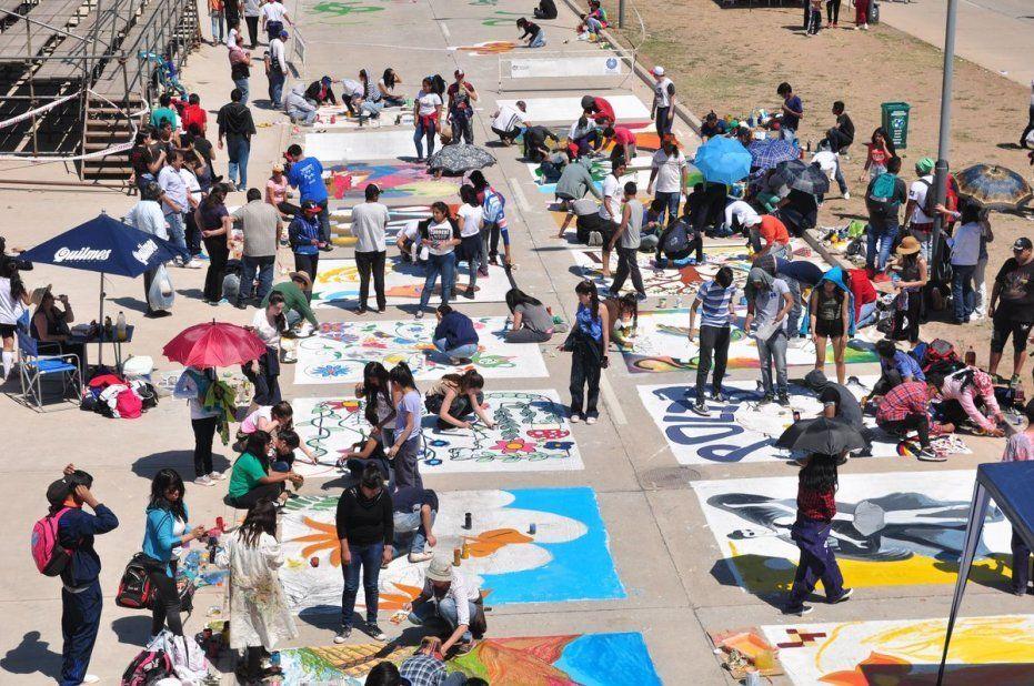 Unificaron la Pintada estudiantil y pintada homenaje