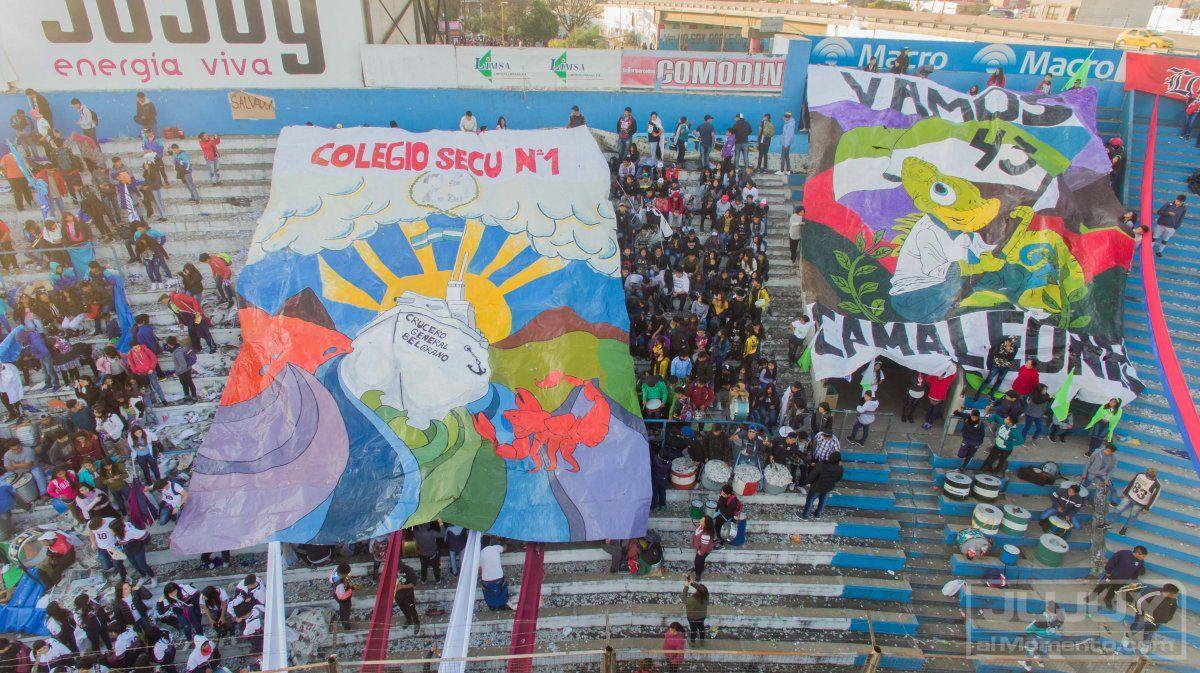 Impresionantes postales del sábado estudiantil