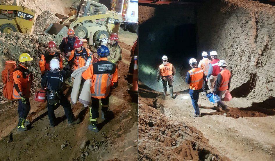 Rescataron a dos de los mineros atrapados, uno de ellos sin vida