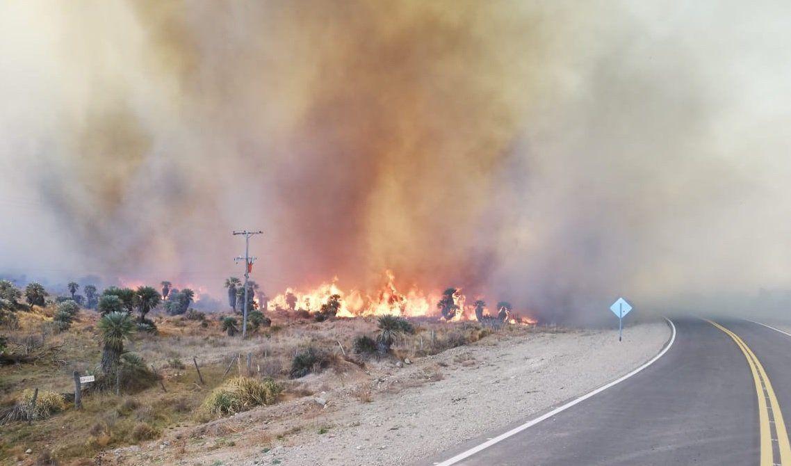 El fuego en las Sierras está contenido en un 70%