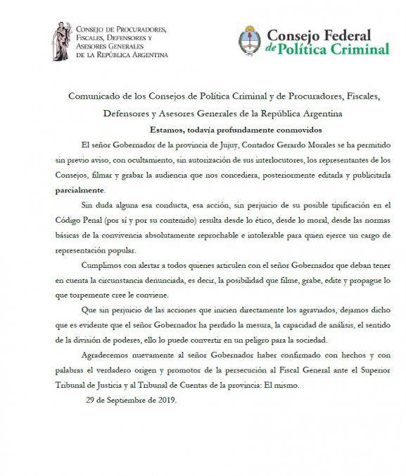 """La """"traición"""" de Morales que indigna a los fiscales"""