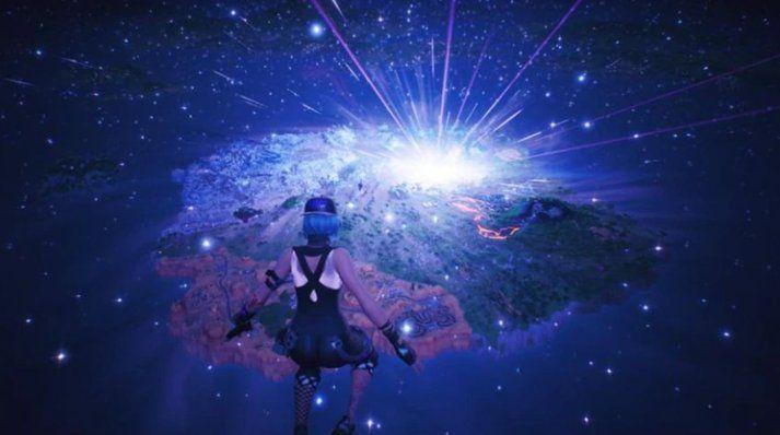 Un meteorito y un agujero negro marcaron el fin de Fortnite