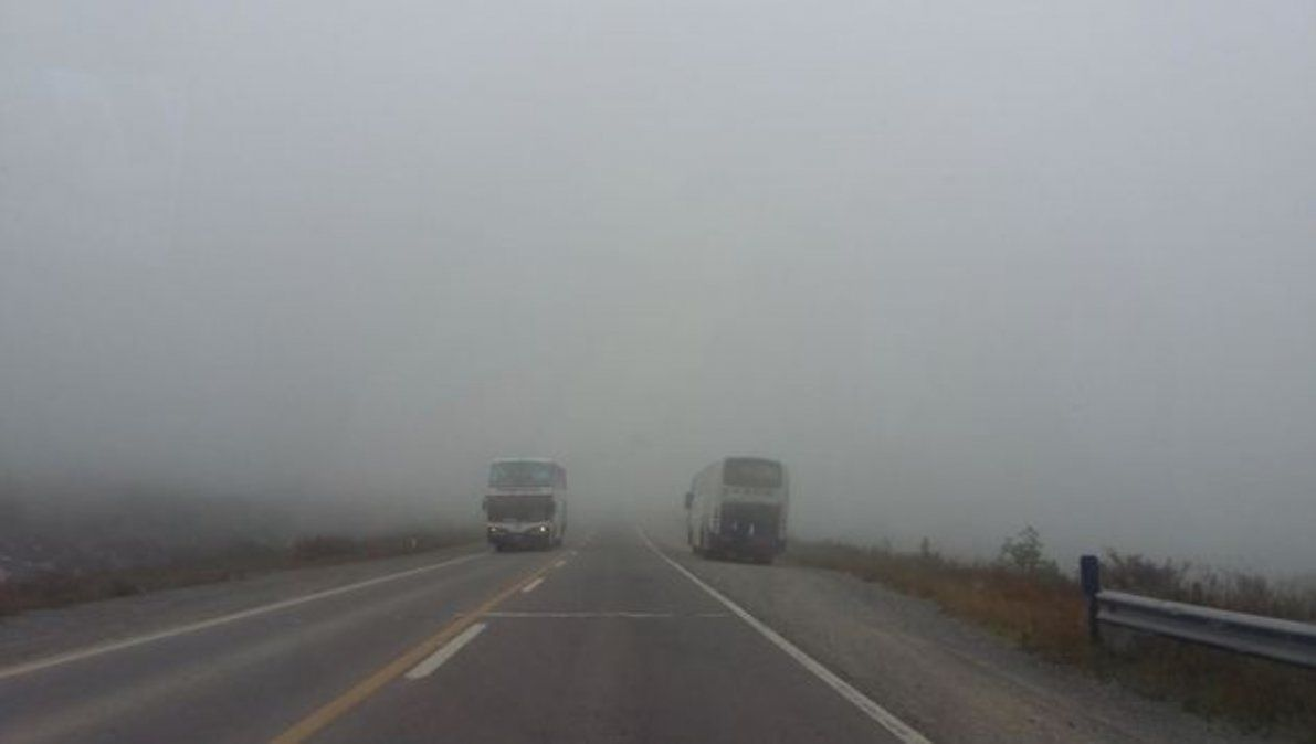 Precaución por neblina en Ruta 9 altura Bárcena