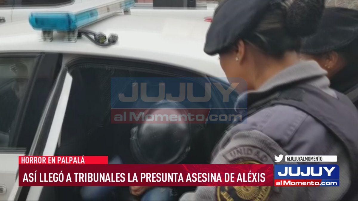 Así llegó a Tribunales la presunta asesina de Alexis