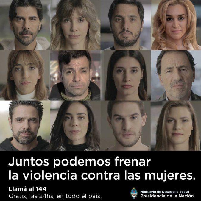 Los famosos se unen contra la violencia de género