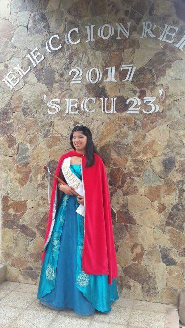 Cintia es la Reina del Secu 23 de Ocloyas