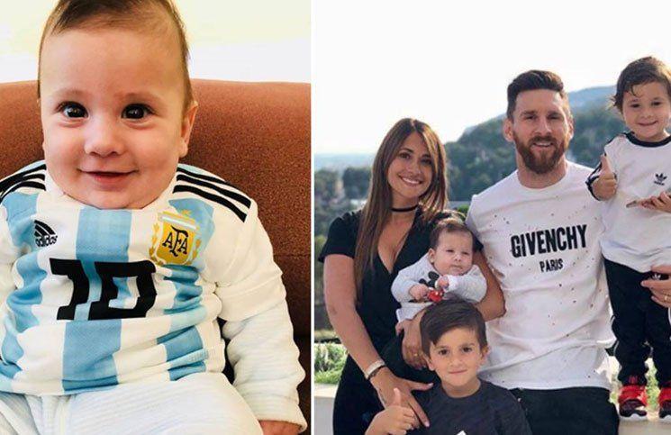Lionel Messi y Antonela Roccuzzo bautizaron a Ciro
