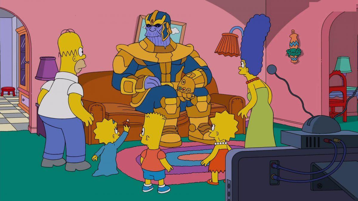 Los Simpsons no se salvaron de Thanos