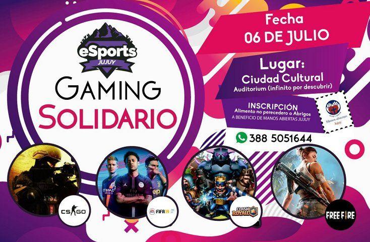 """Se realiza en Jujuy un """"Gaming solidario"""""""
