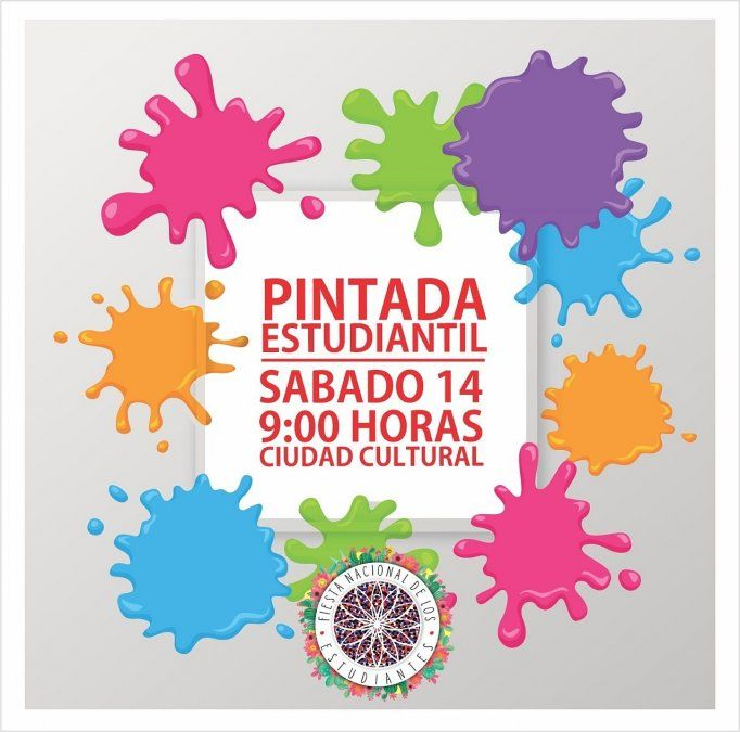 Este sábado se hace la Pintada Estudiantil en ciudad cultural