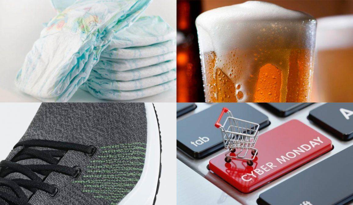 Pañales, cerveza y zapatillas, entre lo más vendido en el primer día del Cyber Monday
