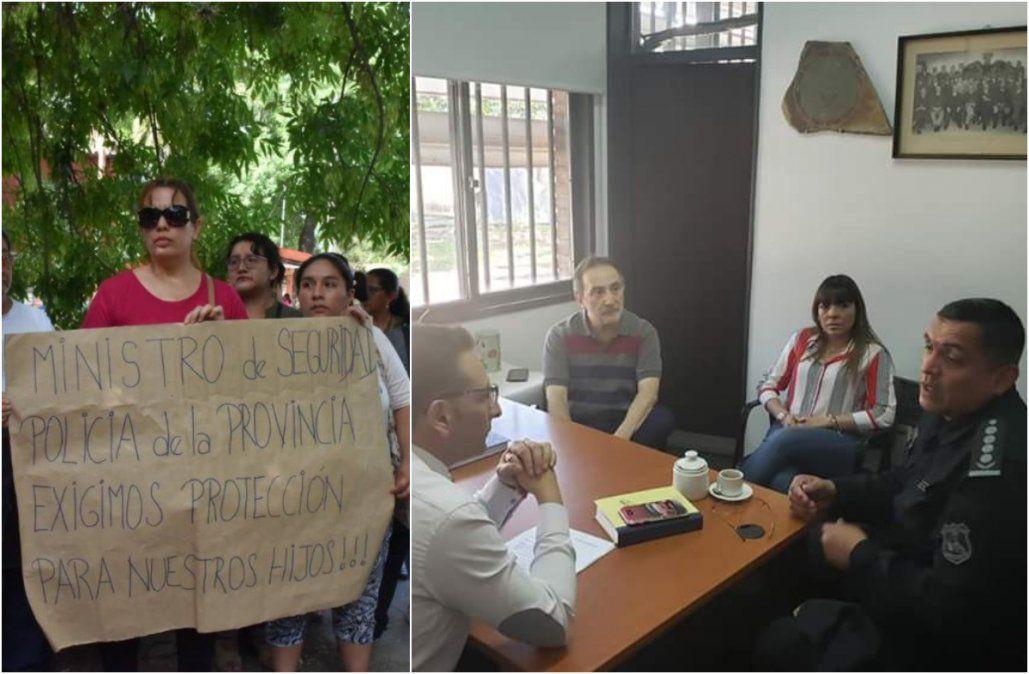 Tras el reclamo de padres, directivos de la Escuela de Minas se reunieron con la policía