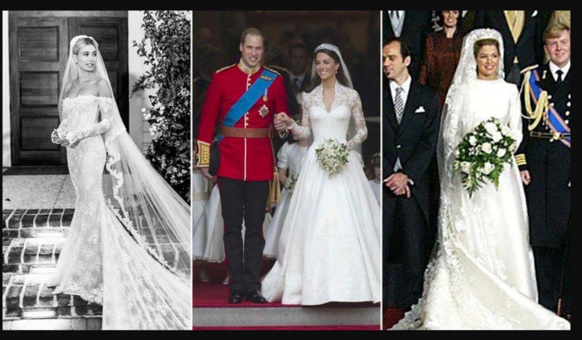 De Claudia Villafañe a Kim Kardashian: los vestidos de novia más ostentosos de las famosas