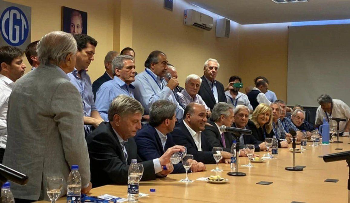 Alberto Fernández se reúne con la cúpula de la CGT