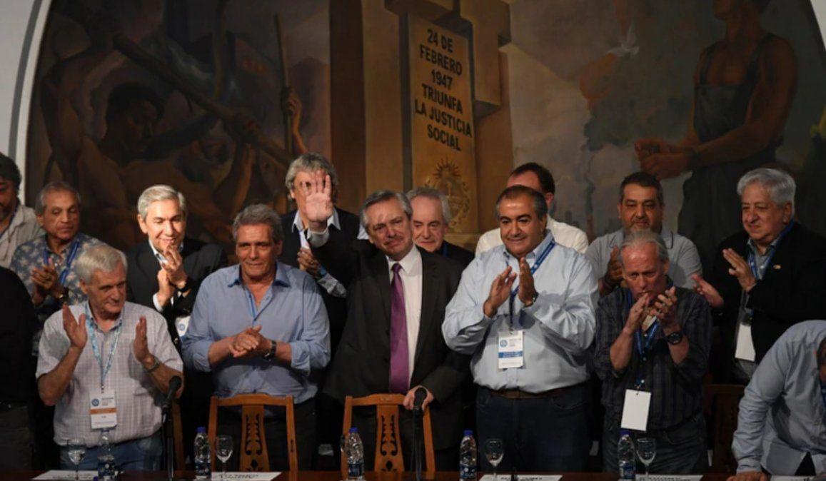 Alberto Fernández en la CGT:  Cristina Kirchner es la esencia de este triunfo