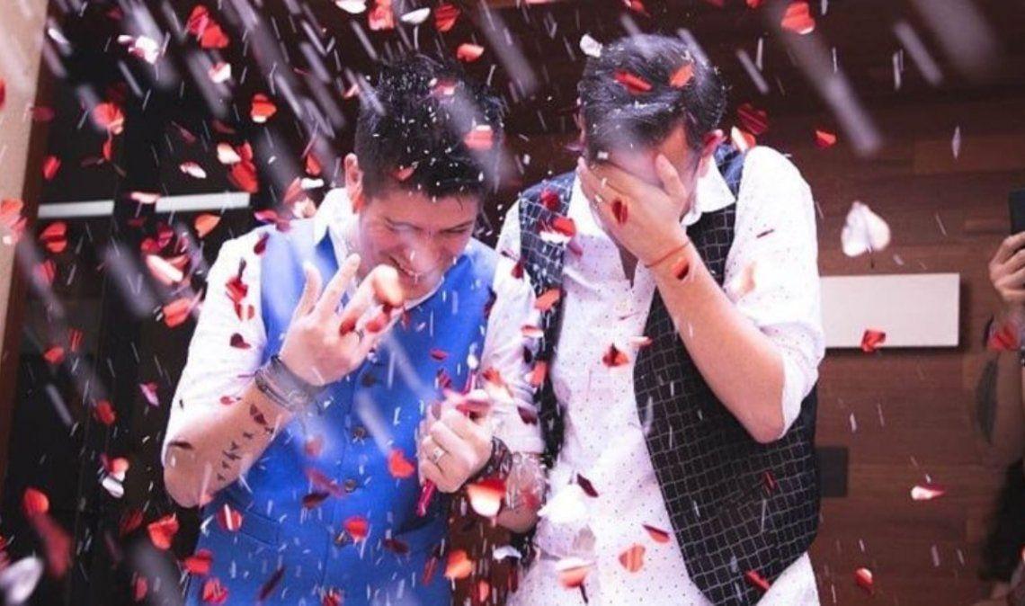 Matías Bertolotti, el chico del clima de TN, se casó con su novio Gabriel Kordich