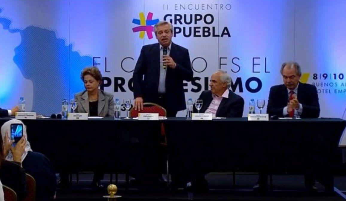 Fernández en la cumbre del Grupo de Puebla: Vamos a cambiar América Latina