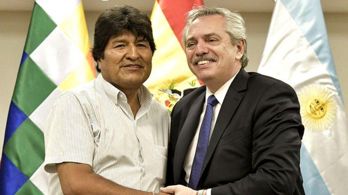 Alberto Fernández se comunicó con Evo Morales para expresar su apoyo
